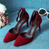 Womens Platform Stiletto Ladies High Heel Sandal Chaussures en cuir