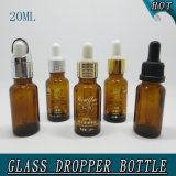 20ml Cylinder Shape Amber Essential Oil Knell Bottle with Dropper