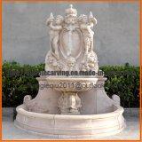 Fontana di parete antica del marmo dell'acqua con gli spruzzatori capi Mf1710 dei leoni