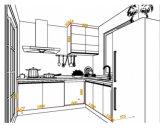 台所家具のMDFのボードが付いているラッカー