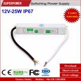 Konstante Schaltungs-Stromversorgung IP67 der Spannungs-12V 25W LED wasserdichte