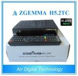 O modelo novo Zgemma H5.2tc de Digitas do ar com DVB-S2 + 2X DVB-T2/C Dual receptor satélite de Hevc H. 265 híbridos dos afinadores