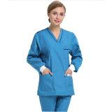 Robe chirurgicale de coton et uniforme médical réutilisable