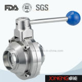 Sanitarios de acero inoxidable tipo recto de dos vías válvula de bola (JN-BLV1008)