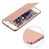 cubierta de la ranura para tarjeta TPU del caso del tirón del cuero de la PU del iPhone 7