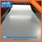 Alto spessore rigido lucido dello strato 1mm del PVC di bianco per il comitato di parete