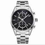 Classic Relógios para homens moda nova tira de couro Casual e Tira de aço inoxidável homens de negócios