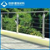 Los paneles exteriores ajustables de la cerca del acero inoxidable del vidrio