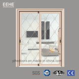 Aluminum Guangzhou French Sliding Glass Doors with grill Design