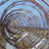304ss de alta seguridad de acero inoxidable navaja cercas de malla de alambre de púas (FR-11)