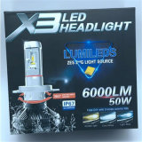 50W를 가진 LED 차 헤드라이트 X3-H13/9004/9007 안개등 전구