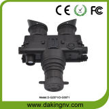 Occhiali di protezione tenuti in mano e casco montati di visione notturna (D-G2071)