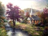 Huile sur toile paysage - 09