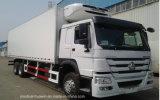 HOWO 아주 새로운 6X4 열 임금에 의하여 냉장되는 트럭 (371HP)