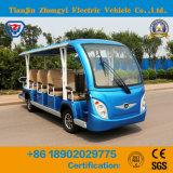 14의 시트 배터리 전원을 사용하는 고전적인 셔틀 전기 관광 버스
