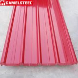 Alle Farbe PPGI wandelte Kasten-Rippen-Dach-Blatt für Gebäude-Gebrauch um