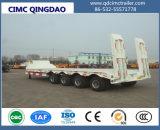 Cimc 2/3의 반 차축 30t-80t 낮은 편평한 침대 화물 트럭 포좌