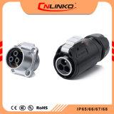 Cnlinko UL/CCC/Ce에 의하여 승인된 플러그 및 소켓은 급속 절단 원형 전원 연결 장치 방수 IP67를 부딪친다