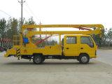 Paltform 고도 운영 트럭 나무 잘라내는 트럭을 드는 Isuzu 4X2