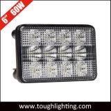 12V 6X4in 60W 케이스 Ih를 위한 직사각형 플러드 광속 LED 트랙터 헤드라이트