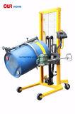 重量のスケールDa450-1が付いている手動油圧持ち上がり、傾くオイルドラムトロリーバンドパレット