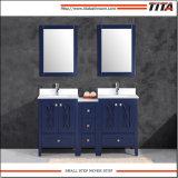 Cuarto de baño de cristal templado de escarcha vanidad T9314-36b