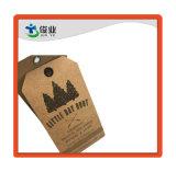 Etiqueta de papel Kraft de alta calidad de impresión personalizados/Etiqueta prendas de vestir