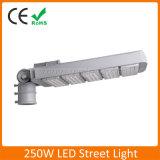 Alto brillo resistente al agua IP65 de 250W luz LED de la calle