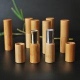 Tube de rouge à lèvres rouge à lèvres en bois de bambou conteneur