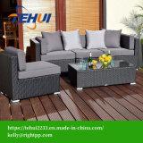 Estrutura de alumínio de vime PE mobiliário, jardim exterior Sofá
