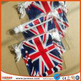 De Britse van het Af:drukken van de decoratie Plastic Vlaggen van het Koord