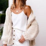 자신의 옷 겨울 여자 카디건을 디자인하십시오
