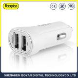2.1A 5.0V 백색 이중 USB 이동 전화 차 충전기