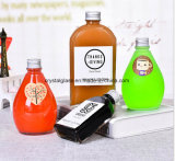 Neue Ankunfts-nettes Glas trinkt Saft-Getränkeflasche mit Alu Schutzkappe