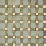 3D mosaico de mármore de pedra para azulejos de parede/3D lado a lado