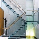 Fonction architectural intéressant le verre feuilleté pour l'escalier de verre / Escaliers flottant