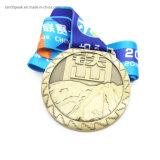 Suministro barato de chapado de bronce medalla boxeo