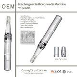 De navulbare Pen van de Schoonheid van de Therapie van Dermaroller Microneedle van de Machine Dermapen (ZX12-60)