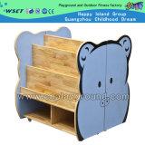 Мебель игрушки детей полки книги милого шкафа шаржа деревянная (HC-3706)