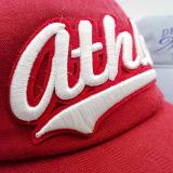 Крышка Brim вышивки Applique способа фабрики шлемов Гуанчжоу изогнутая хлопком