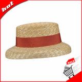 아름다운 중절모 모자 밀 밀짚 모자
