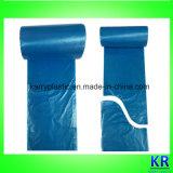 HDPE bolsas de basura bolsas desechables con papel de etiqueta