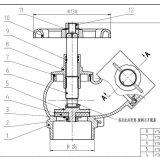 Kundenspezifisches geschmiedetes Messingfeuer-Hydrant-Ventil (AV4064)