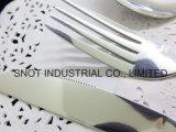 Jeu réglé de vaisselle plate de qualité de couverts neufs de modèle