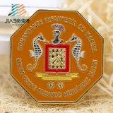 Moneta del metallo su ordinazione professionale di rame antico di Jiabo euro con la casella