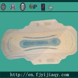 Almofada sanitária impressa azul ultra fina da alta qualidade do uso do dia