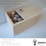 Hongdao einfacher Entwurfs-handgemachter natürlicher Kiefernholz-Verpackungs-Kasten für Geschenk-Großverkauf _E