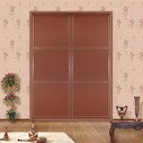 Populares decorativos de madera para dormitorios Silding armario de puertas para armario V2952