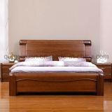 固体木のベッドの現代ダブル・ベッド(M-X2349)