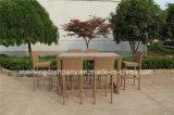Novo Design de venda quente de vime sintético de alta cadeira Bar usando para jardim /Bar